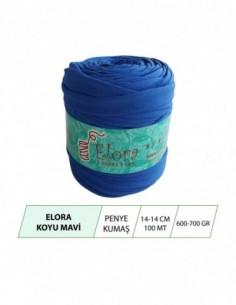 Elora Koyu Mavi Penye Kumaş...