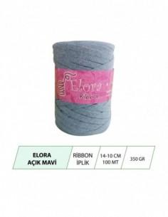 Elora Açık Mavi Ribbon Örgü...