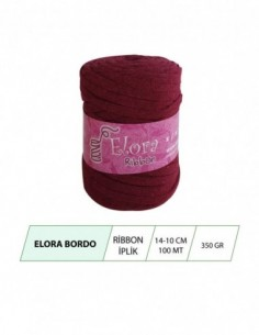 Elora Bordo Ribbon Örgü İpi